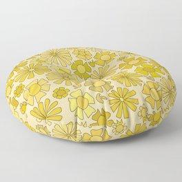 flower power // retro flower pattern by surfy birdy Floor Pillow