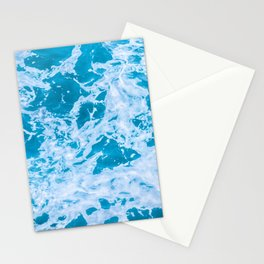 Turquoise Teal Waves Summer Beach Stationery Cards