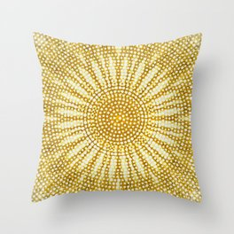 Dotted sunshine mandala Throw Pillow