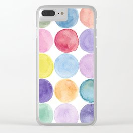 dotted and well organized Clear iPhone Case