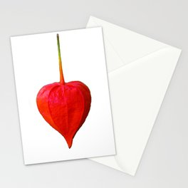 Physalis Heart Love Stationery Cards