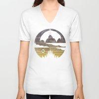 bat V-neck T-shirts featuring Bat by Kody Christian