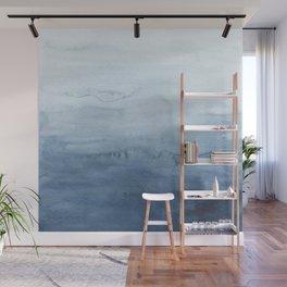 Indigo Abstract Painting | No. 4 Wall Mural