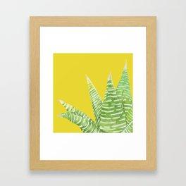 Green Mix Cactus Framed Art Print