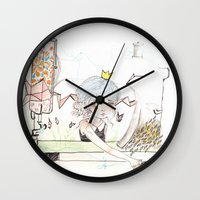 "sewing Wall Clocks featuring ""Sewing home"" by GABI FVENTES"