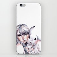 cuddle iPhone & iPod Skins featuring Cuddle! by Koanne Ko
