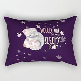 Would you be my sleepy bear? (c) 2017 Rectangular Pillow