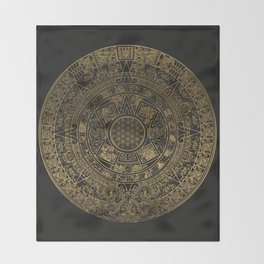 The Mayan Realization Throw Blanket