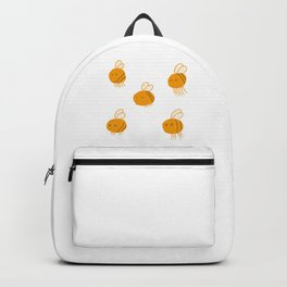 Cute Happy Golden Bees Backpack