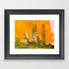 Yellow City Framed Art Print