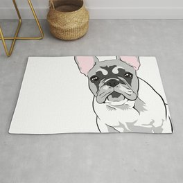 Jersey the French Bulldog Rug
