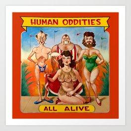 Sideshow Banner, Human Oddities Art Print