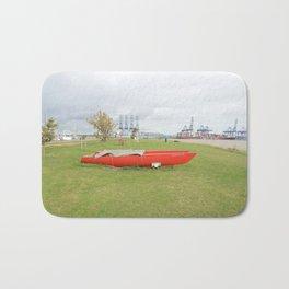 Red Catamaran Bath Mat