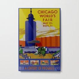 Vintage Chicago World's Fair 1933 Metal Print
