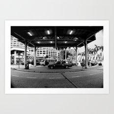 Taaaxi! [Black & White] Art Print