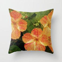 Orange Speckles Throw Pillow