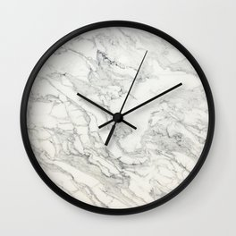 White Marble 010 Wall Clock