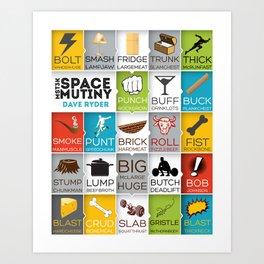 MST3K Space Mutiny - Dave Ryder Names - Art Print Wall Decor Typography Inspirational Poster Motivat Art Print