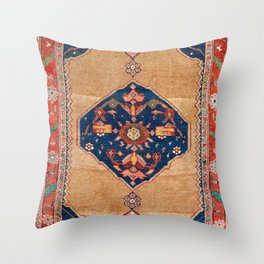 Bijar Kurdish Northwest Persian Rug Print Throw Pillow