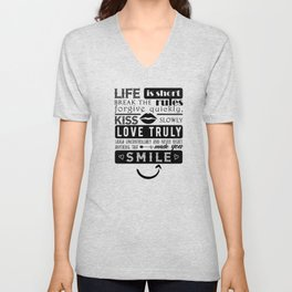 Life is short Unisex V-Neck