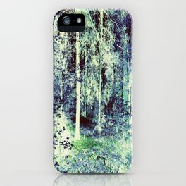 Dream Forest Teal Blue Green iPhone Case