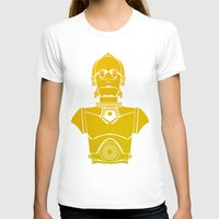 c3po T-shirts featuring StarWars C3PO by Joshua A. Biron