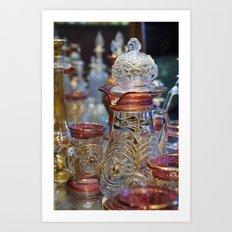 Egyptian Ornate Glass Art Print
