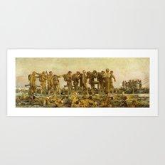 John Singer Sargent - Gassed Art Print