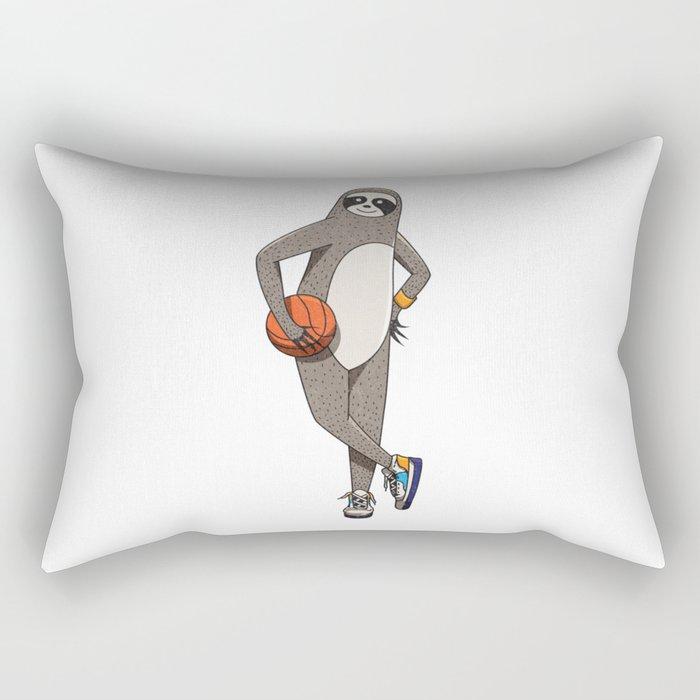 The sporty sloth Rectangular Pillow