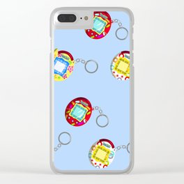 Tamagotchi Connection V2-Blue Clear iPhone Case