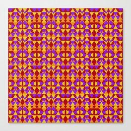 aztec pattern, tribal background Canvas Print
