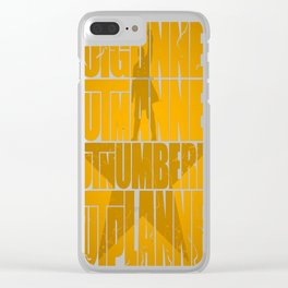 Stay Alive Clear iPhone Case