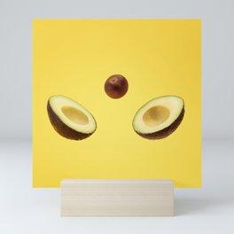 Split avocado Mini Art Print