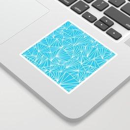 Ab Fan Electric Blue Sticker