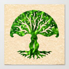viviána tree of life, green gallery mandala Canvas Print
