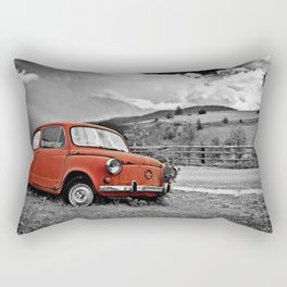 Old Car on the Countryside Rectangular Pillow