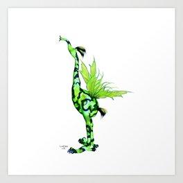 Fantasy Bird Gobi Art Print
