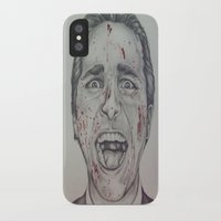 american psycho iPhone & iPod Cases featuring American Psycho by A.H.