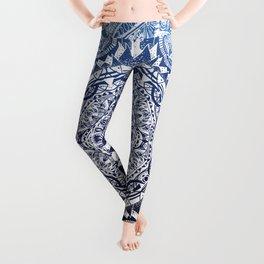 Blue Gradient Mandala Leggings