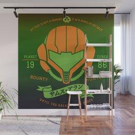 Video Game Gamer Geek Metroid Inspired Orange Armor Space Warrior Wall Mural