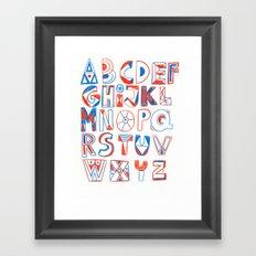 PlayFull Alphabet Framed Art Print