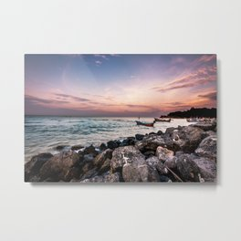 Rocky Coast Sunrise Metal Print