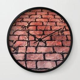 Vintage Brick Street Wall Clock