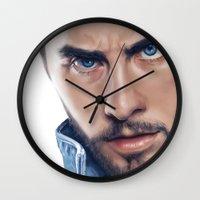jared leto Wall Clocks featuring Jared Leto by mari_art89