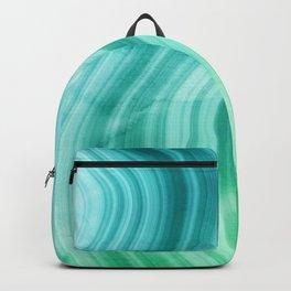 Ocean Blue And Green Mermaid  Marble Backpack