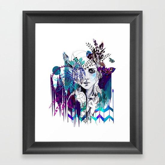 Tribal Girl - Colourway - Framed Art Print