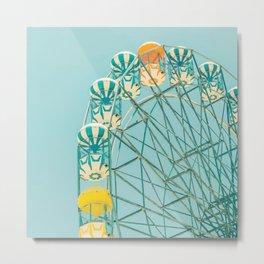 Candy Skies Ferris Wheel Metal Print