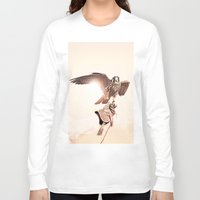 falcon Long Sleeve T-shirts featuring Falcon by Anton Watts