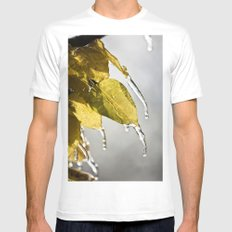 Dripping Ice Mens Fitted Tee White MEDIUM