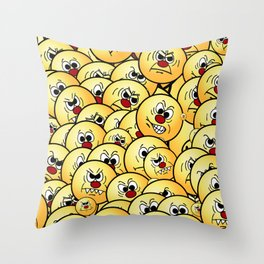 Angry Smiley Collections Grumpeys Throw Pillow